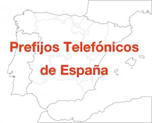 prefijos telefonicos de espana